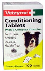 Vetzyme-yleiskuntotabletit (30 kpl) koiralle