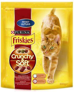Friskies Crunchy & Soft -kissanruoka + Reviiri-lehti